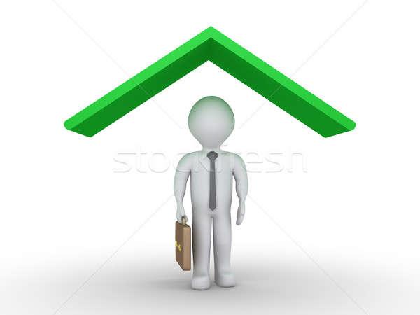 Businessman under roof Stock photo © 6kor3dos