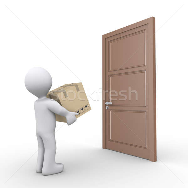 Person delivers a parcel Stock photo © 6kor3dos