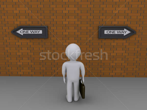 Businessman has two options Stock photo © 6kor3dos