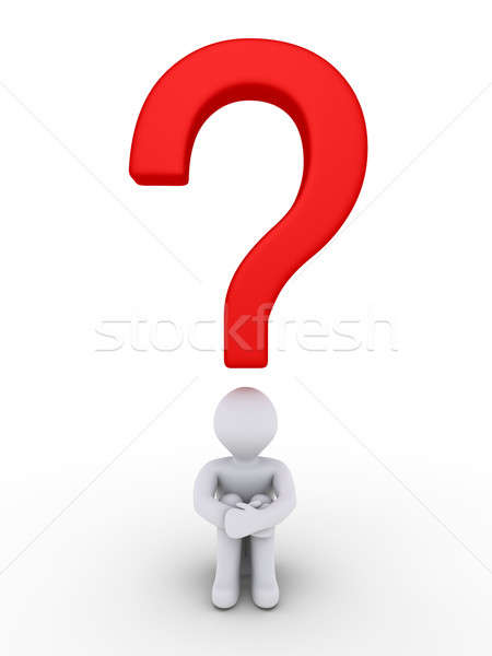 Person is wondering under a question mark Stock photo © 6kor3dos