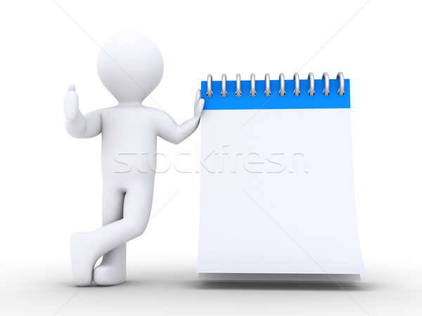Person is with notepad Stock photo © 6kor3dos