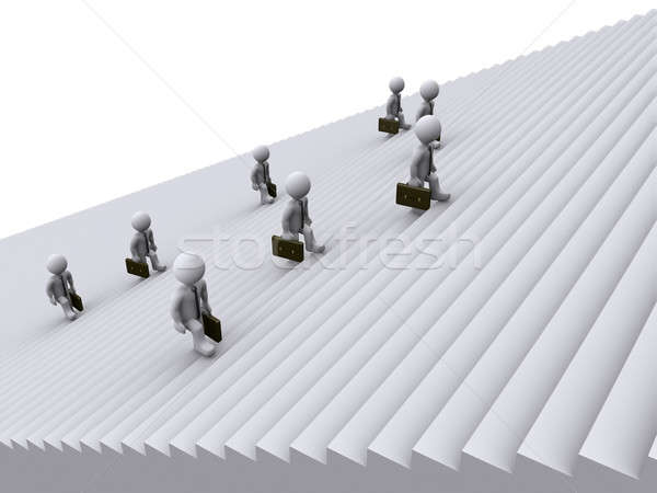 Stock photo: Businessmen are climbing stairs