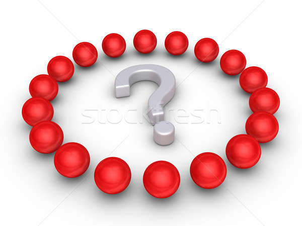 Teamwork concept with a question mark at the center Stock photo © 6kor3dos