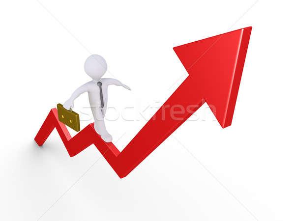 ビジネスマン バランス グラフ バランス 矢印 ポインティング ストックフォト © 6kor3dos