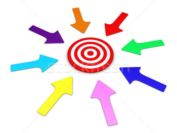 Arrows pointing to target Stock photo © 6kor3dos