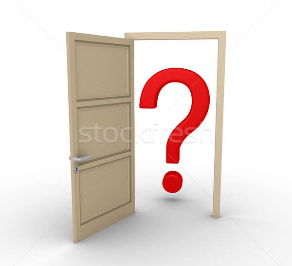 Opened door leads to question mark Stock photo © 6kor3dos