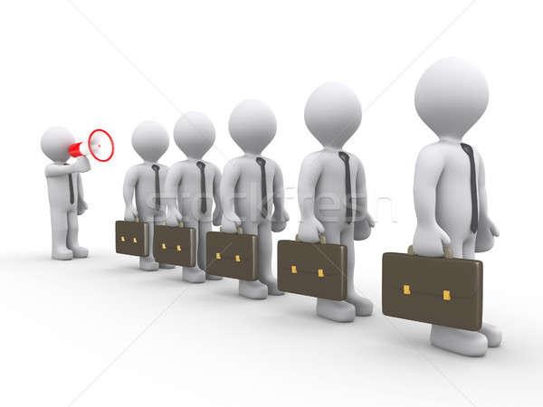 Boss shouting to employees Stock photo © 6kor3dos