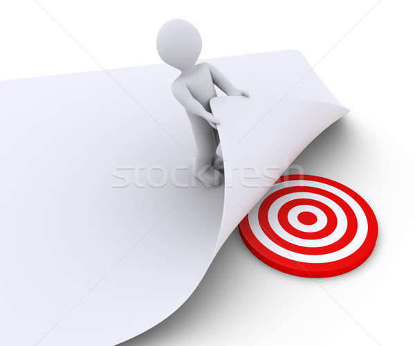 Person discovers the target under a paper Stock photo © 6kor3dos