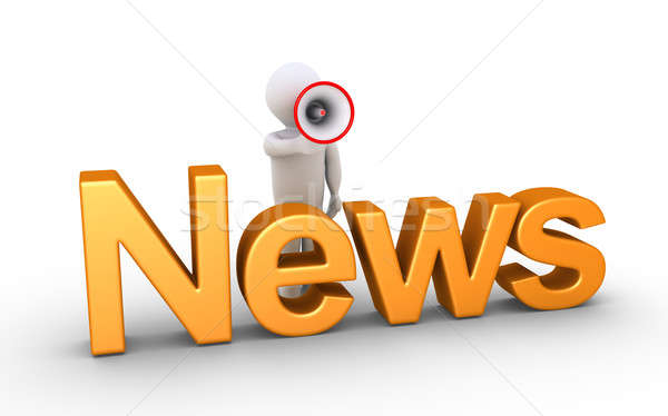 News by person with bullhorn Stock photo © 6kor3dos