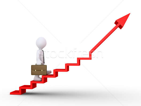 Businessman climbing stairs of success Stock photo © 6kor3dos