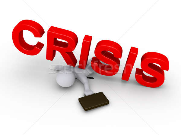 Businessman crushed by crisis word Stock photo © 6kor3dos