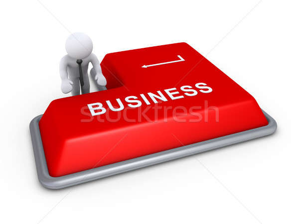 Businessman about to press business button Stock photo © 6kor3dos