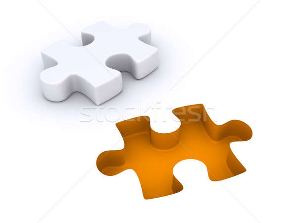 Puzzle piece detached from the ground Stock photo © 6kor3dos