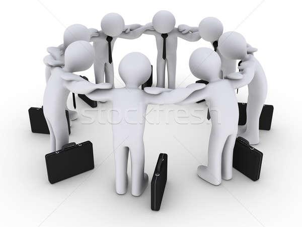 3d Businessmen Concentrating Stock photo © 6kor3dos