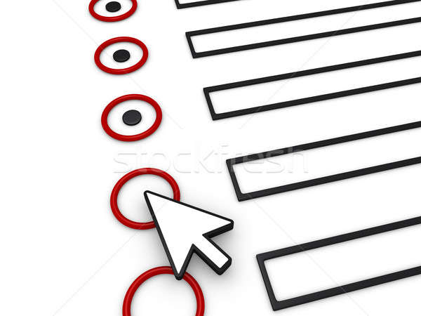 Completing form using mouse pointer Stock photo © 6kor3dos