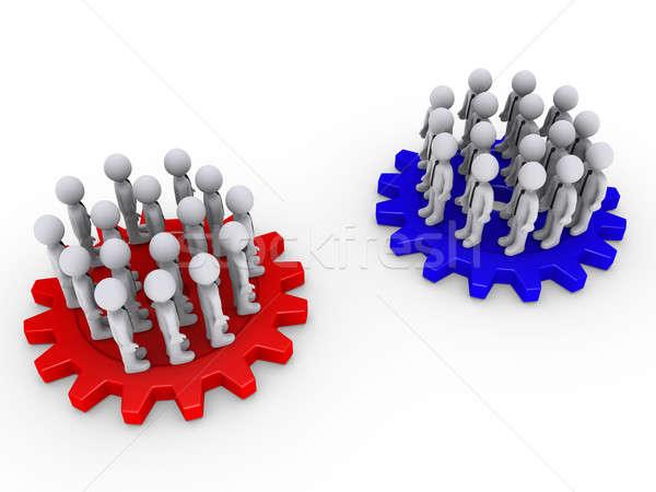 2 チーム 多くの 3次元の人々 ストックフォト © 6kor3dos