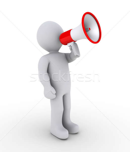 Person shouting through megaphone Stock photo © 6kor3dos