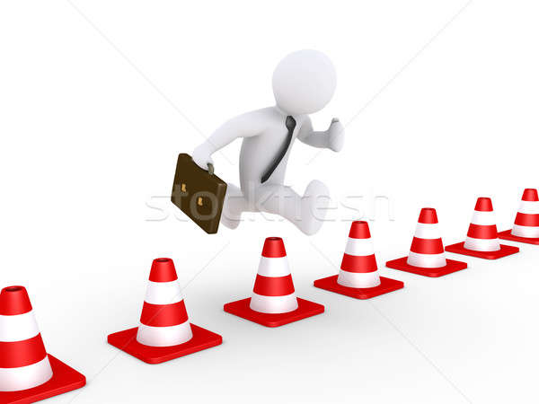 Businessman overcoming problems Stock photo © 6kor3dos