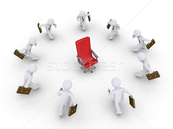 Zakenlieden lopen promotie 3D lege stoel Stockfoto © 6kor3dos