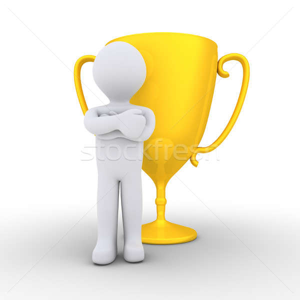 Person won the golden cup Stock photo © 6kor3dos