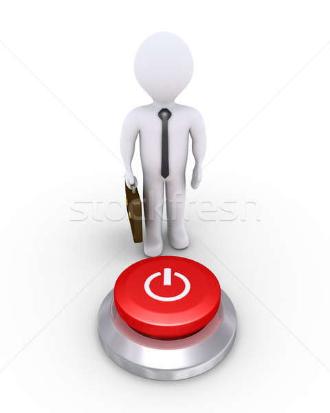 Businessman with a power button Stock photo © 6kor3dos