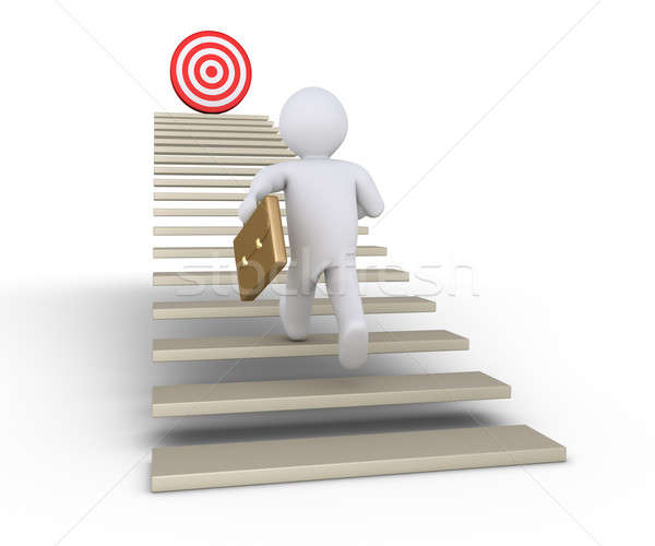 Businessman is running towards target Stock photo © 6kor3dos