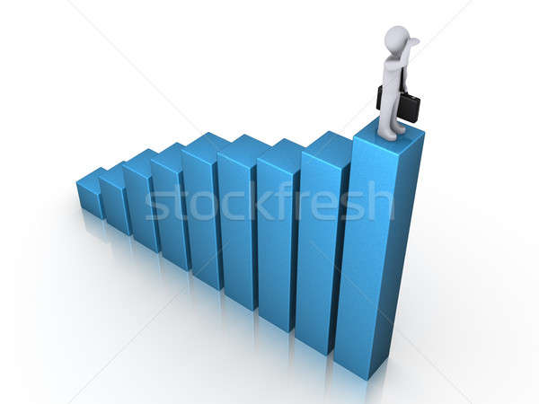 Man on chart gazing Stock photo © 6kor3dos