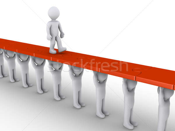 Person is supported in order to succeed Stock photo © 6kor3dos