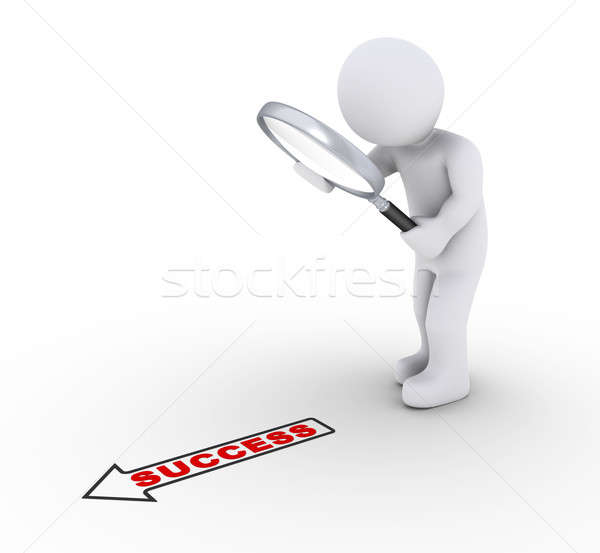 Person with magnifier looking for success Stock photo © 6kor3dos