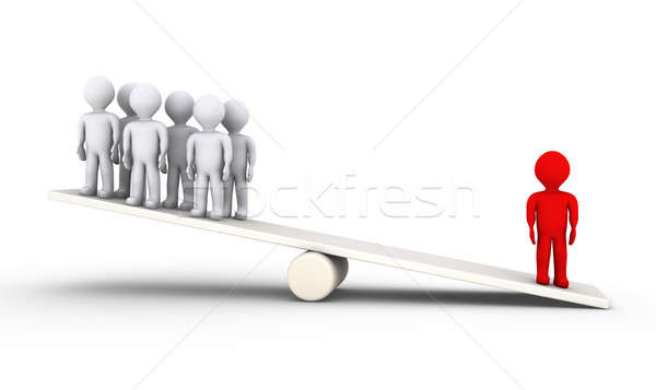 Person is heavier than many others Stock photo © 6kor3dos