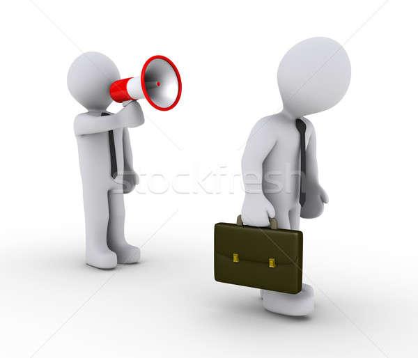 マネージャ 従業員 メガホン 3dの人 ストックフォト © 6kor3dos