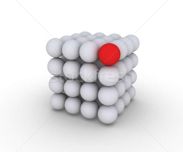 Küre küp inşaat küreler bir Stok fotoğraf © 6kor3dos