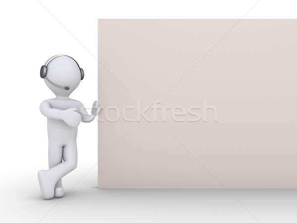 Operator with a blank sign Stock photo © 6kor3dos