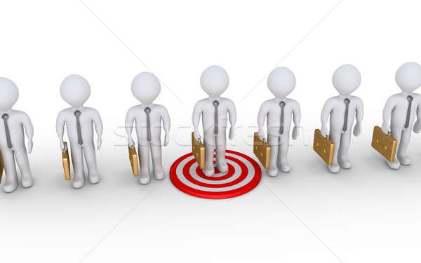 Businessman is on target Stock photo © 6kor3dos