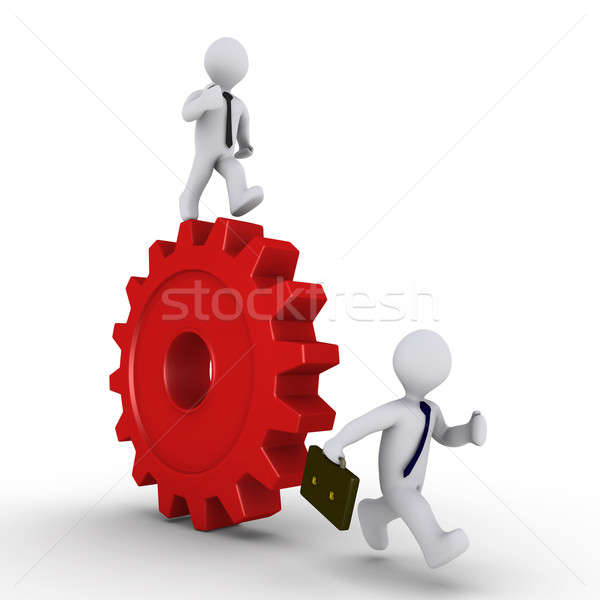 Manager on cog is chasing employee Stock photo © 6kor3dos