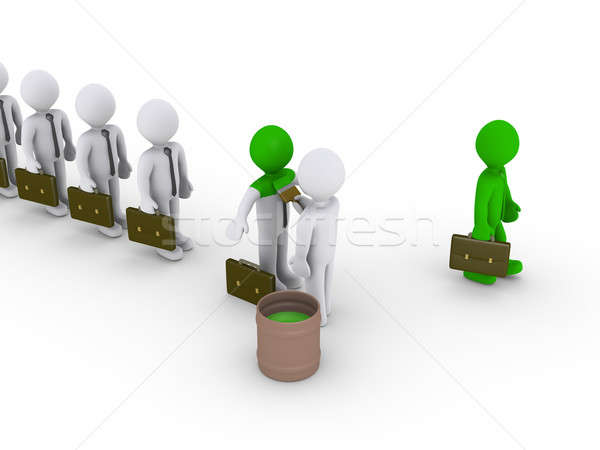 Stock photo: Changing appearance on businessmen