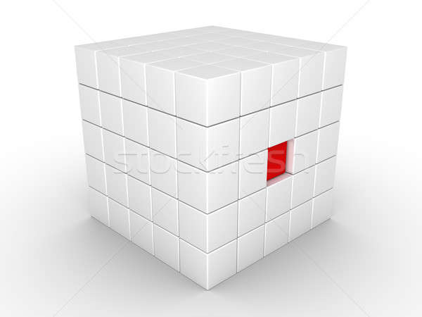 One cube is pressed inwards Stock photo © 6kor3dos