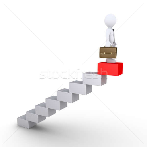 Businessman is on the highest block Stock photo © 6kor3dos