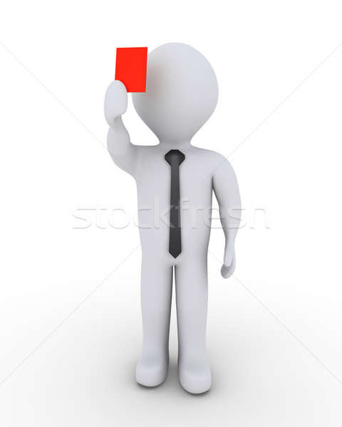 Businessman is showing red card Stock photo © 6kor3dos