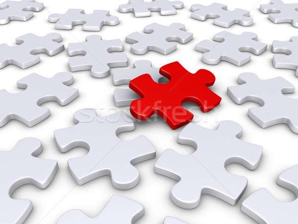 çözüm 3D kırmızı bilmece parça diğer Stok fotoğraf © 6kor3dos