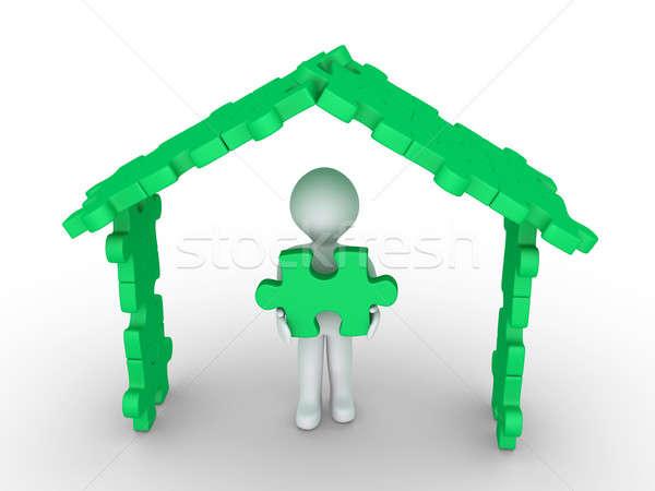 家 パズル 建設 3dの人 パズルのピース ストックフォト © 6kor3dos