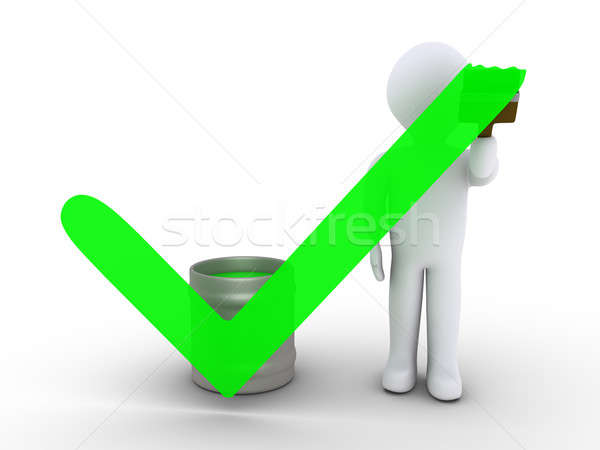 Person painting a check mark Stock photo © 6kor3dos