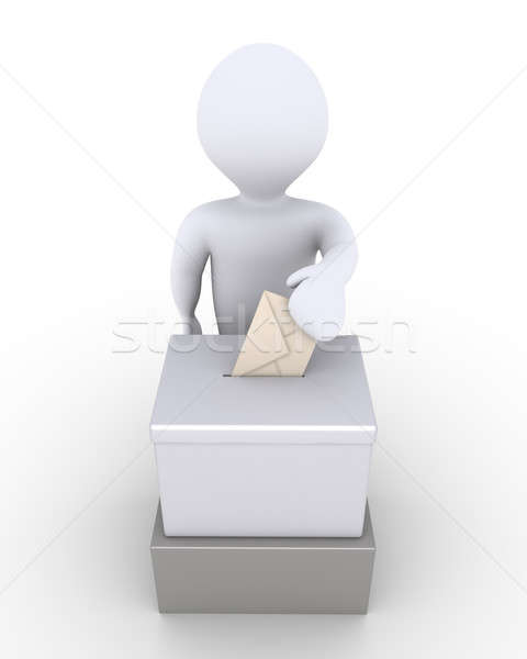 Person before a ballot box is voting Stock photo © 6kor3dos