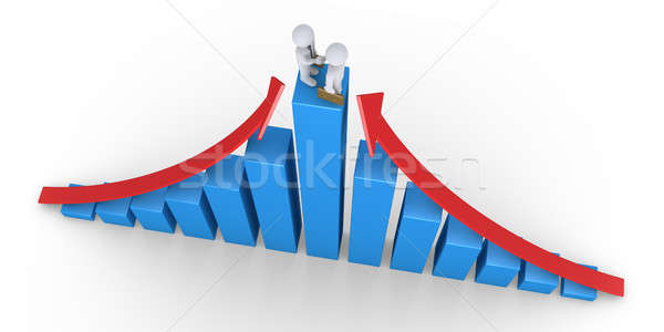 Businessmen agreement on top of graph Stock photo © 6kor3dos