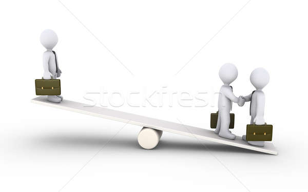Businessmen agreement on a seesaw Stock photo © 6kor3dos