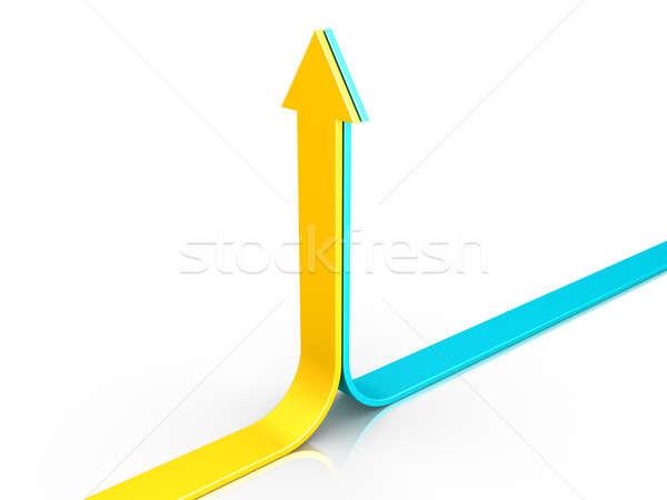 Two arrows pointing upwards Stock photo © 6kor3dos