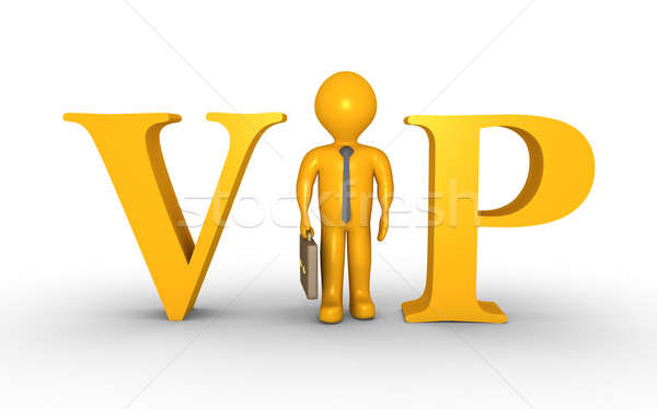 Importante affaires permanent vip lettres lettre i Photo stock © 6kor3dos