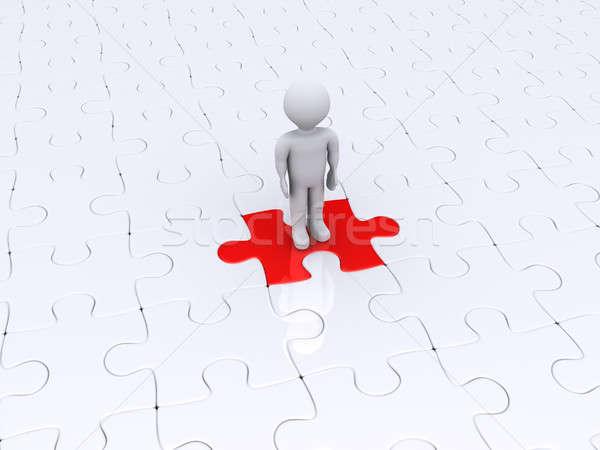 Persona pie diferente rompecabezas pieza 3 ª persona Foto stock © 6kor3dos