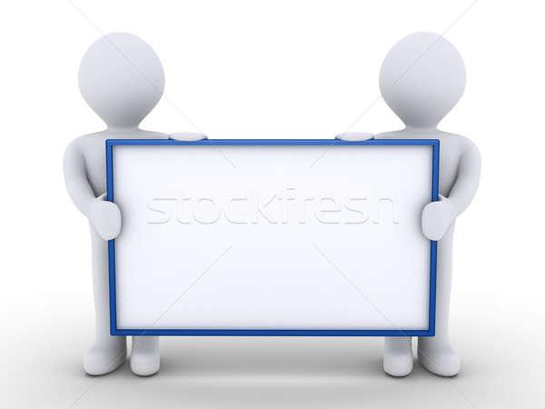 Deux personnes équipe deux gens 3d Photo stock © 6kor3dos