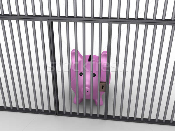 Pig money box in prison Stock photo © 6kor3dos